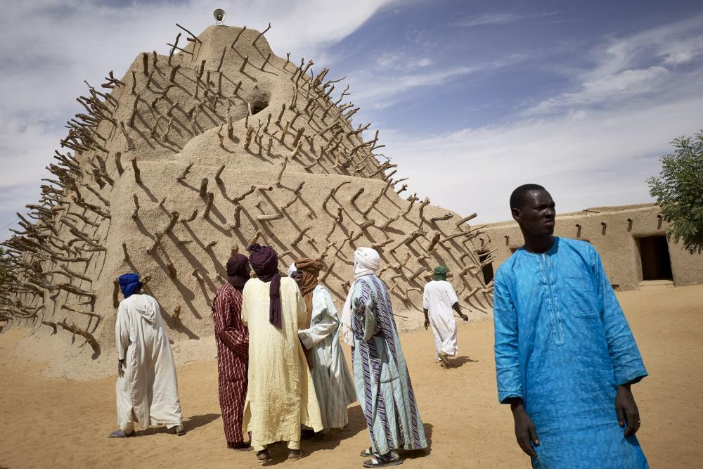 Photographer Michele Cattani took this picture in March 2020 at the project launch to rehabilitate the Tomb of Askia in Gao, Mali, funded by ALIPH