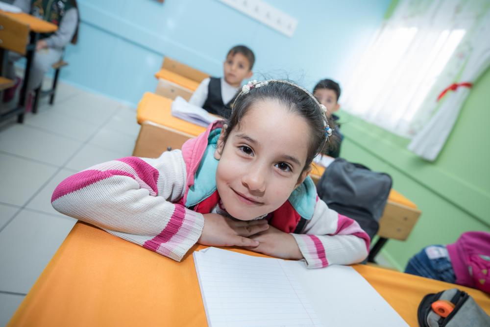 The Geneva Global Hub for Education in Emergencies is the result of a pledge made at the 2019 Global Refugee Forum to make a difference in the education of crisis-affected and displaced children and youth. Photo ©UNICEF.UNI309264.Onat