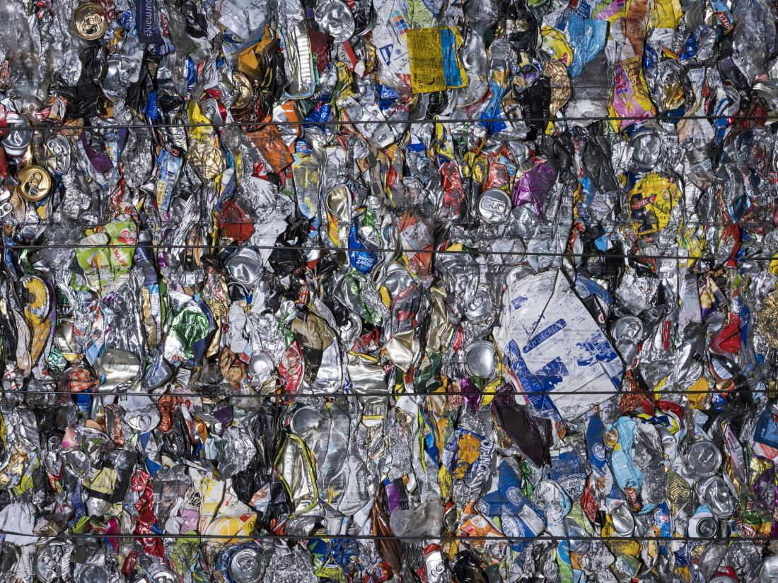 Magnum Photographer, Mark Power signs this 2018 waste close-up taken at the Trivalis recycling plant, France