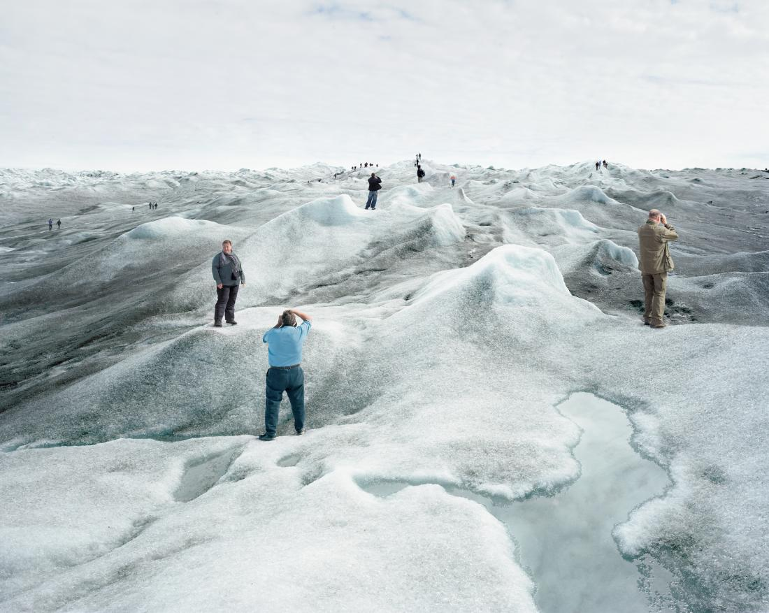 "This scene takes place in Greenland in 2008. Photographed by Olaf Otto Becker, it belongs to the series ""Above Zero"" testimony on the glacial melting seen from inland. It is part of the current collective exhibition ""Civilization-Quelle époque!"" at the Mucem until 28 June 2021"