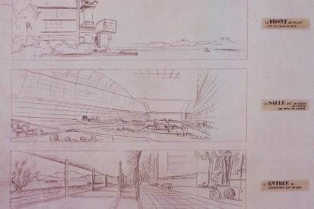 Sketches by Le Corbusier. United Nations Archives at Geneva
