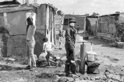 "Magnum photographer, Lindokuhle Sobekwa, took this scene in Thokoza in March 2020. At a time where COVID-19 was ""for some of the population perceived as a myth."""